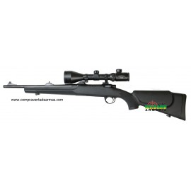 Rifle de cerrojo Sabatti SH con rosca homologada.