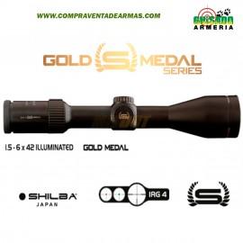 Visor Shilba Gold Medal 1,5-6x42 iluminado.
