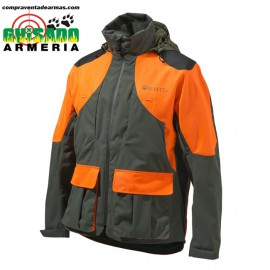 EUROPEAN UNPLAND WP JACKET GU482 GREEN ORANGE