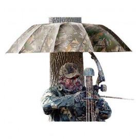 Paraguas para esperas con sujeción al tronco.