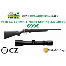 Pack Rifle Ceska CZ 455 Synthetic 17 HMR + Visor