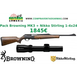 Pack Rifle Browning Mk3 Hunter + Visor