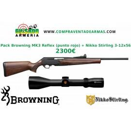 Pack Rifle Browning Mk3 Reflex + Visor