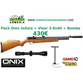 Pack Carabina PCP Onix Initzia + Visor + Bomba