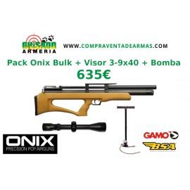 Pack Carabina PCP Onix Bulk Monotiro + Visor + Bomba