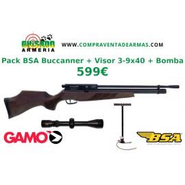 Pack Carabina PCP BSA Buccanner + Visor + Bomba