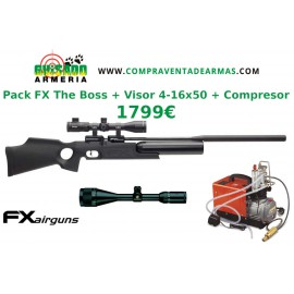 Pack Carabina PCP FX The Boss + Visor + Compresor