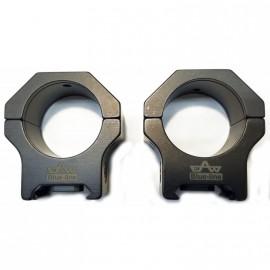 Juego de anillas APEL Blue-line para Picatinny - 30mm. BH10 con conector