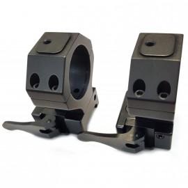 Juego de anillas APEL Blue-line con conector para Picatinny - 30mm. BH20