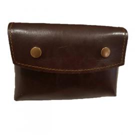 Bolso canana portabalas cuero engrasado coñac