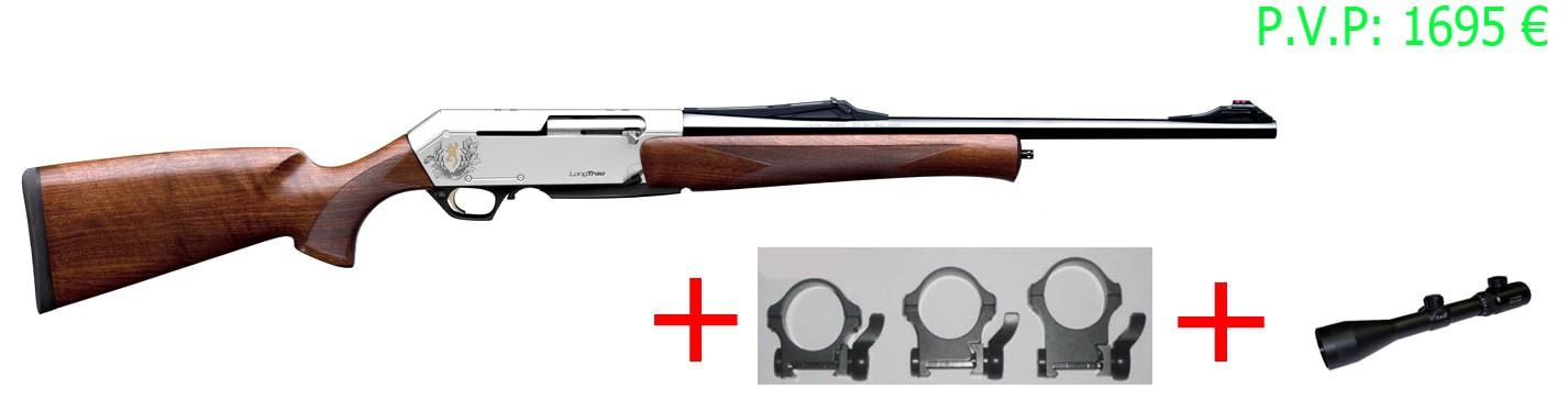Rifle Browning Long Track Hunter+visor+monturas